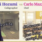 Walkthrough – Love Tangle – Naoki Hozumi vs Carlo Mazza